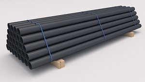 PVC Pipe with Pallet 3D model