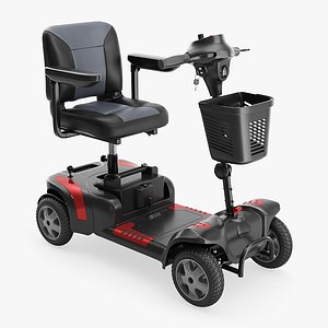 3D model scooter medical wheel