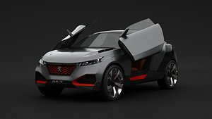 Peugeot Quartz Concept 2015 3D