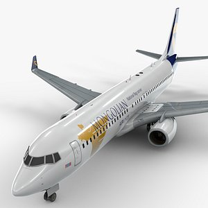 3D model boeing 737-8 mongolian airlines