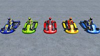 Low Poly Karts With Player Pack 1