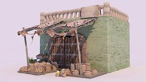 3D model egyptian leather market -