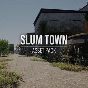 Slum Town - Asset Pack - Blender and FBX 3D model
