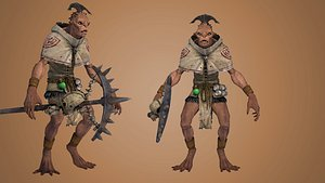 warrior orc goblin 3D model