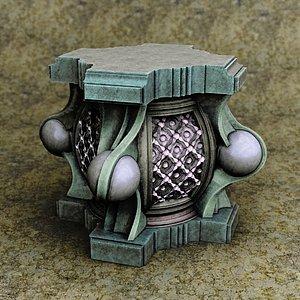 3D model pedestal