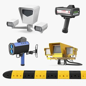 Traffic Speed Control Tools Collection 2 3D model