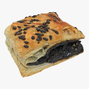 3D model pastry black bean