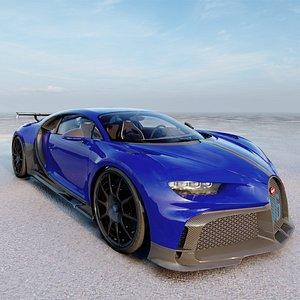 3D model Bugatti Chiron 2021
