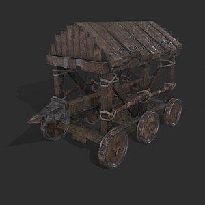 War Mechanism Battering Ram 3D model