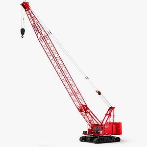 3D model Manitowoc MLC100-1 Crawler Crane
