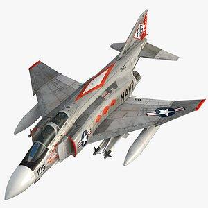 F4 J Navy Phantom II VF-102 Diamondbacks 3D model
