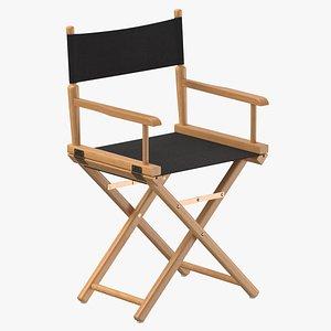 3D model directors chair