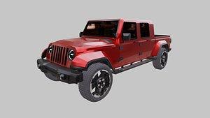 3D model jeep gladiator