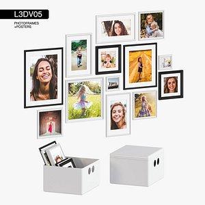 3D photoframes posters model