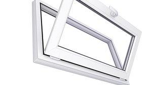 3D Basement PVC  Window 3D Model 6