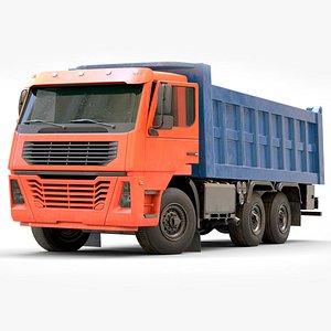 3D truck dump heavy model