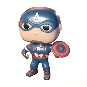 3D toy captain america