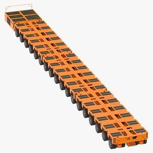 3D model 18 axle lines modular