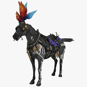 3D Horse Rigged model