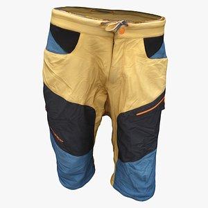3D shorts clothes model