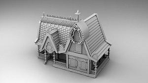 3D model house russian