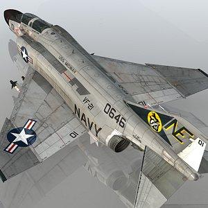 F4 B Navy Phantom II VF-21 Free Lancers USS Midway 3D model