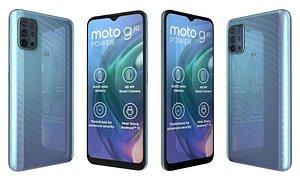 Motorola Moto G10 Power Breeze Blue 3D