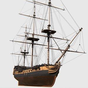 british frigate war ship 3D model