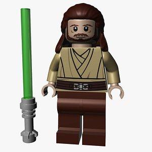 Lego Qui-Gon Jinn 3D