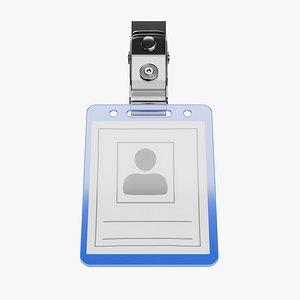 3D model Name Badge 4