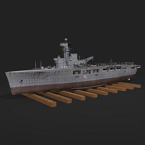 3D hms hermes aircraft carrier