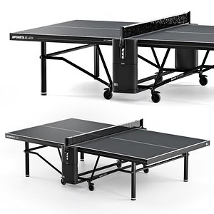 sponeta sdl black tennis 3D model
