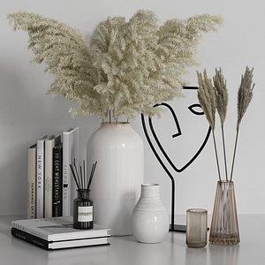 vase face pampas 3D model