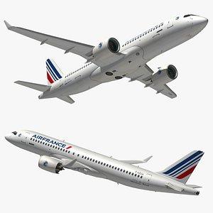 3D Airbus A220 300 Air France