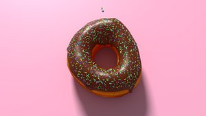 donut food 3D model