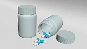 3D Bottle of Pills