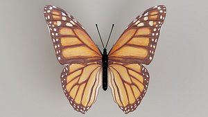 butterfly monarch insect 3D model