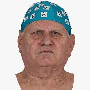 Homer Human Head Brow Lowerer AU4 Raw Scan 3D