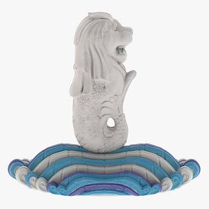 3D model Merlion Statue