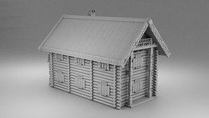 house russian izba model