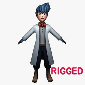 doctor character rigged cartoon model