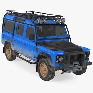 Dirty Off Road Car Rigged 3D