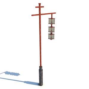 3D model Traditional Japanese Lamp v2
