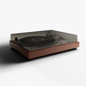 Vintage Turntable 3D model