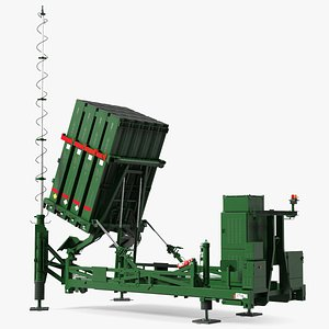 Armed Iron Dome Air Defense Batteries 3D