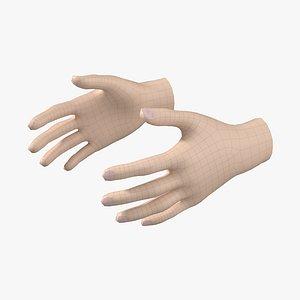 3D Female Hand Base Mesh 04