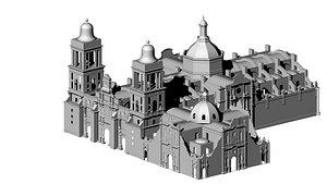 cdmx catedral metropolitana 3D