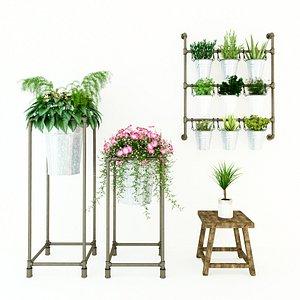3D Planter Rack PB5 model