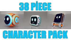 3D model 38 piece character pack