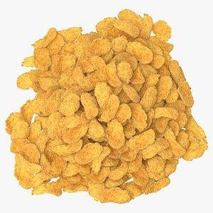 pile corn flakes pieces 3D model